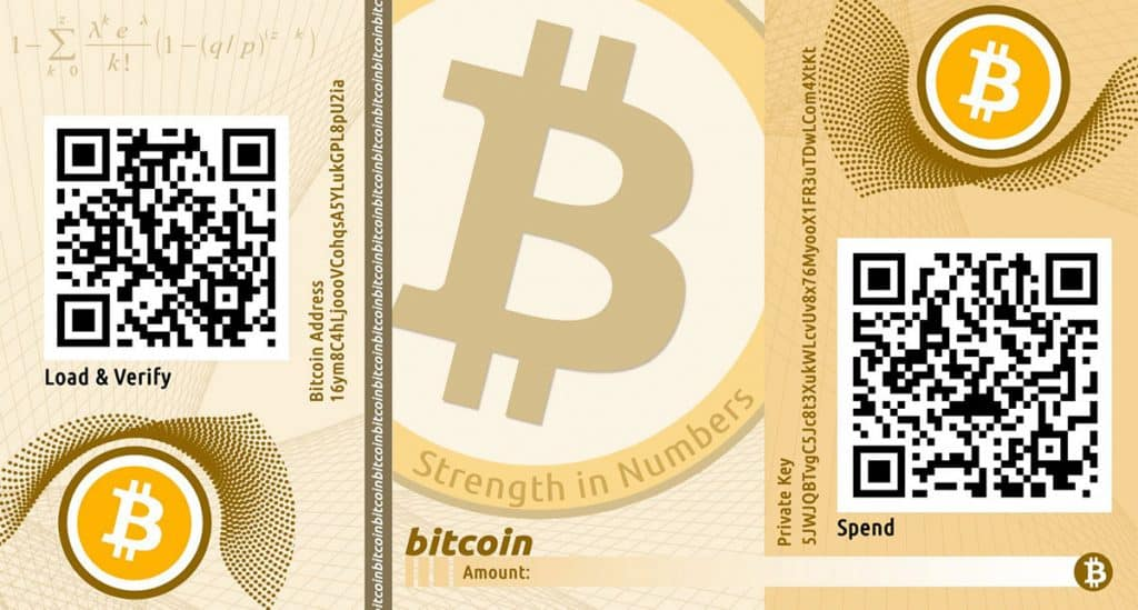bitcoin wallet paper